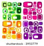 retro seamless vector square... | Shutterstock .eps vector #3953779