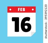 calendar icon flat february 16