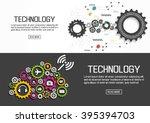 flat designed banners for... | Shutterstock .eps vector #395394703