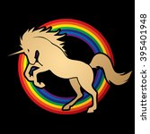 unicorn silhouette designed on...   Shutterstock .eps vector #395401948