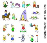 colorful funny people icons.... | Shutterstock .eps vector #395409628