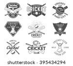 set of cricket sports logo... | Shutterstock .eps vector #395434294