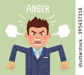 illustration of an angry... | Shutterstock .eps vector #395437318