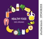 healthy food vector template.... | Shutterstock .eps vector #395438203