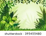 illustration jungle landscape | Shutterstock .eps vector #395455480