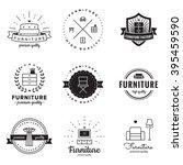 furniture logo vintage vector...   Shutterstock .eps vector #395459590