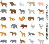 vector set of flat domestic and ... | Shutterstock .eps vector #395466790