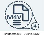 flat vector illustration. m4v...