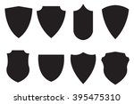 medieval shield. set icon.... | Shutterstock . vector #395475310