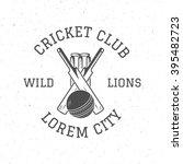 Retro Cricket Club Logo Icon...