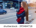 fashion shot of pretty young... | Shutterstock . vector #395484718