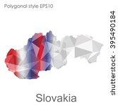 geometric polygonal style... | Shutterstock .eps vector #395490184