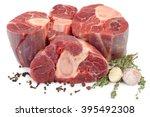 beef shanks on the white... | Shutterstock . vector #395492308