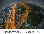 aerial view of the express way... | Shutterstock . vector #395505178