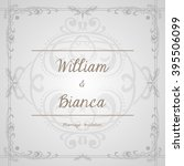 marriage invitation vector... | Shutterstock .eps vector #395506099