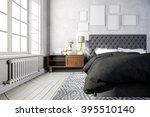 3d beautiful bedroom interior... | Shutterstock . vector #395510140