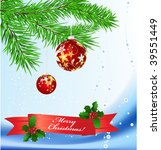christmas background | Shutterstock .eps vector #39551449