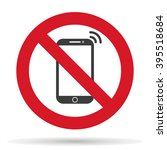 ban on phone mobile cell phone  ...   Shutterstock .eps vector #395518684