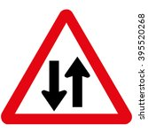 two way traffic ahead | Shutterstock .eps vector #395520268