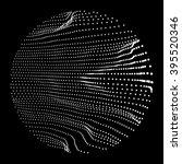 wave grid background. 3d... | Shutterstock .eps vector #395520346