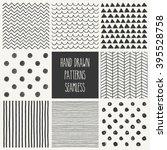 hand drawn seamless patterns...   Shutterstock .eps vector #395528758