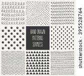 hand drawn seamless patterns...   Shutterstock .eps vector #395528764