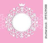 baby shower for girl  pink... | Shutterstock .eps vector #395529088
