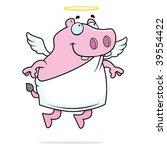 hippo angel | Shutterstock .eps vector #39554422