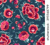 beautiful spanish floral print  ... | Shutterstock .eps vector #395568799