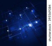 abstract digital geometric... | Shutterstock . vector #395569384