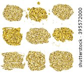 set of glitter golden blots.... | Shutterstock .eps vector #395572000