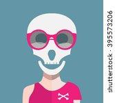 skull with sunglasses | Shutterstock .eps vector #395573206