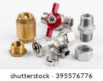 closeup of plumbing equipment... | Shutterstock . vector #395576776