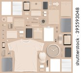corporate identity template on... | Shutterstock .eps vector #395593048