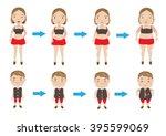 women and boys making... | Shutterstock .eps vector #395599069