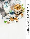 healthy breakfast ingrediens....   Shutterstock . vector #395605249