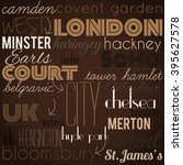 london  retro  stylish... | Shutterstock . vector #395627578