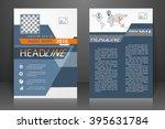 abstract vector modern flyers... | Shutterstock .eps vector #395631784
