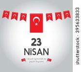 23 nisan cocuk bayrami | Shutterstock .eps vector #395633833