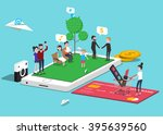 how people use mobile  smart...   Shutterstock .eps vector #395639560