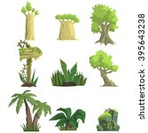 tropical forest landscape... | Shutterstock .eps vector #395643238