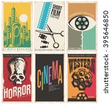 collection of retro movie... | Shutterstock .eps vector #395646850