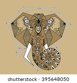 the stylized image of an... | Shutterstock . vector #395648050