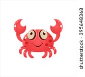 Pink Crab Character Isolated...