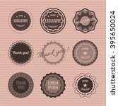 set of circle logos on the... | Shutterstock .eps vector #395650024