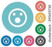 flat shocked emoticon icon set... | Shutterstock .eps vector #395655730