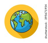 earth icon. vector earth icon... | Shutterstock .eps vector #395671954