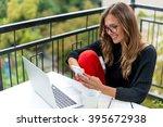 typing on smart phone | Shutterstock . vector #395672938