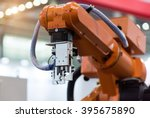 robotic hand machine tool at... | Shutterstock . vector #395675890