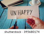 man hand holding card with the... | Shutterstock . vector #395680174